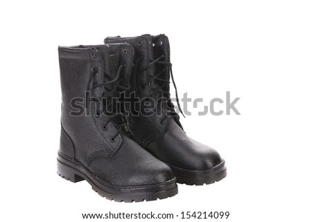 High man's boots. Isolated on a white background.