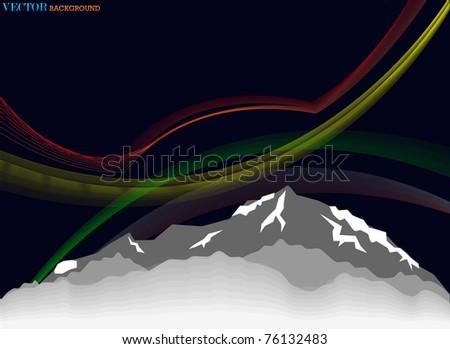 high mount illustration - stock photo