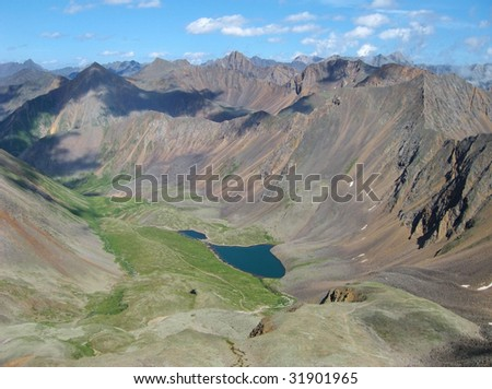 High mountain in Siberia - stock photo
