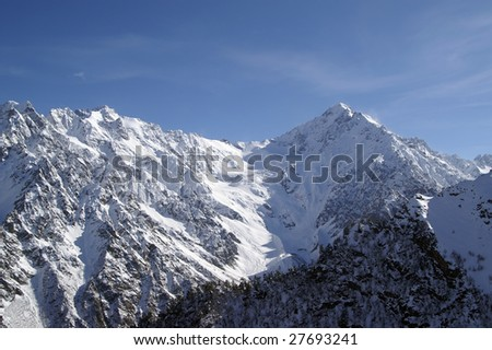 High Mountains. Caucasus. Tsey.