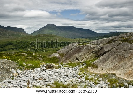 High mountains in Ireland - stock photo