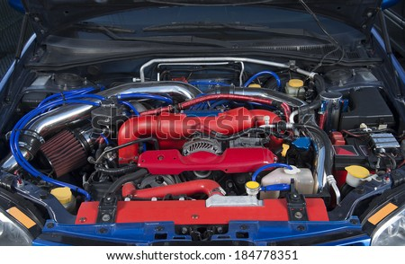 High performance modified rally car - stock photo