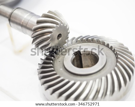 high precision automotive gear box close-up