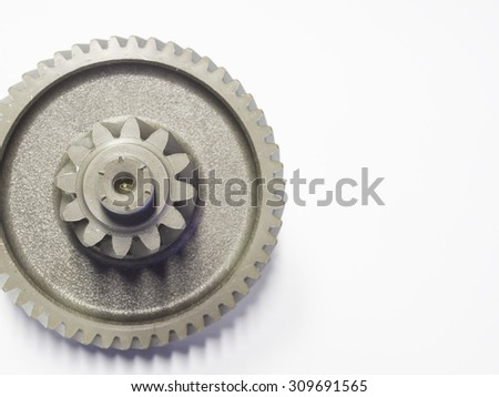 high precision automotive steel gear parts close-up