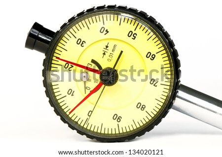 High precision caliper's  gage close-up - stock photo