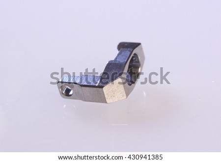 High precision metal parts - stock photo