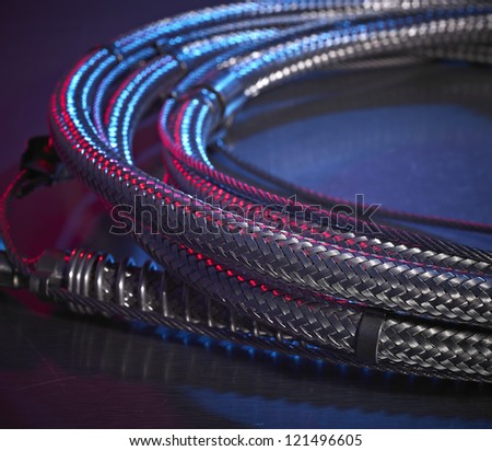 High Pressure Hose Coil - stock photo