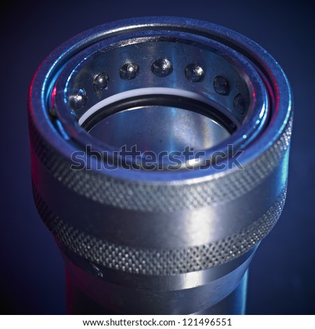 High Pressure Hose Connector - stock photo