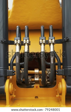 high pressure tubes on a digger