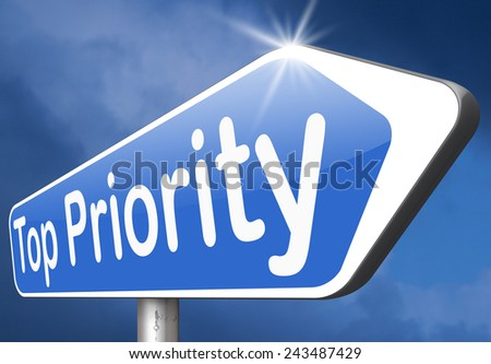 high priority very urgent top secret and crucial info last chance or opportunity do it now - stock photo