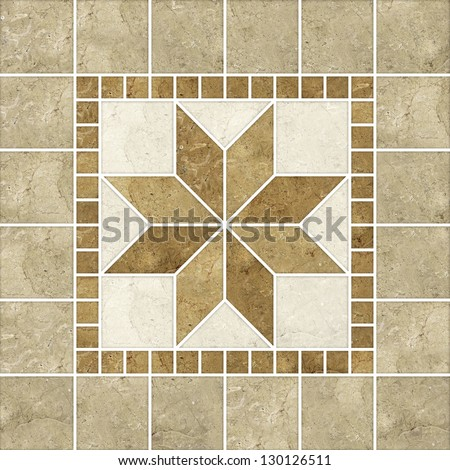 High-quality Brown mosaic pattern decor  background. - stock photo