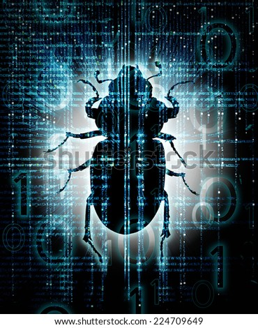 high quality digital bug  illustration - stock photo