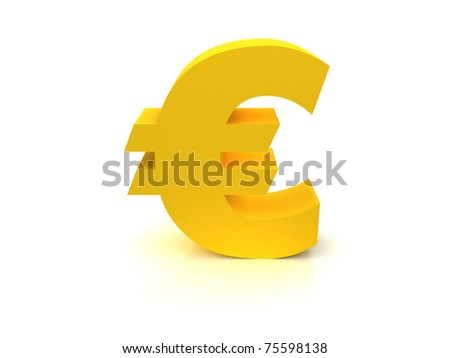 High Quality Euro Sign - stock photo