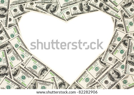 High quality frame with money.Ready to use - stock photo