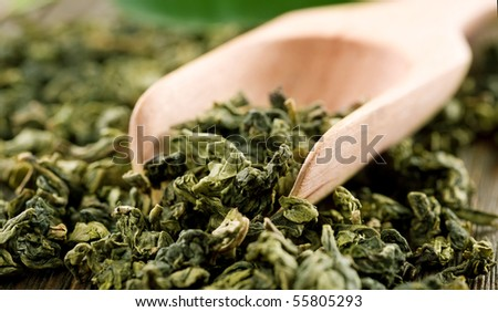 High Quality Green Tea closeup - stock photo