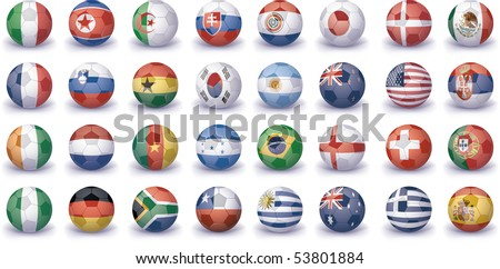 high quality icon set of flags - stock photo