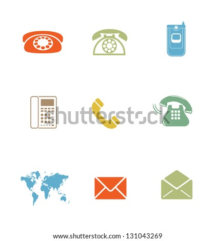 High Quality Icon Sets - business email phone - stock photo