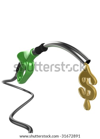 High quality illustration of a petrol (gas) pump.