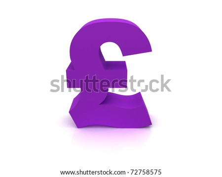 High Quality Pound Sign - stock photo