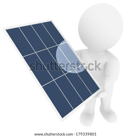 High quality rendered figure shows solar energy