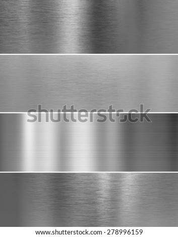 high quality silver steel metal texture backgrounds - stock photo