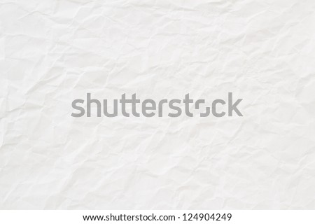 high quality white crumpled paper texture, background, backdrop - stock photo