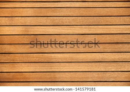 High quality wooden floor of a modern sailing boat