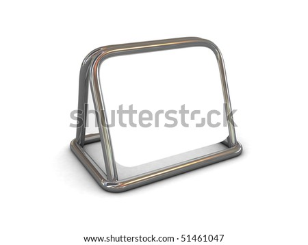high res. 3d blank information board isolated - stock photo