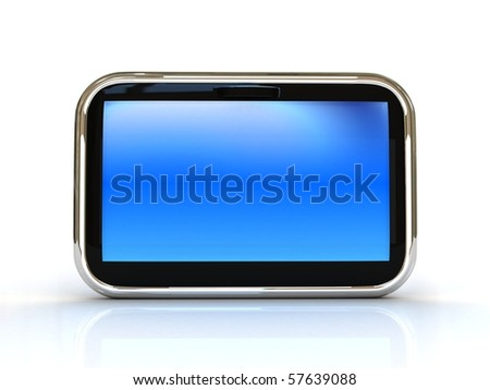 high res. touch screen 3d rendered - stock photo