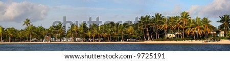High Reslolusion Panorama of South Beach Miami FL - stock photo