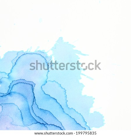 High resolution. Abstract watercolor art hand paint on white background - stock photo