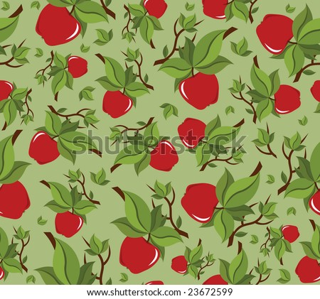 High resolution apple seamless background pattern - stock photo