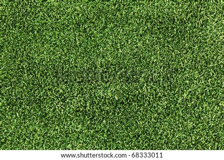 High Resolution Artificial Grass Field Top View - stock photo