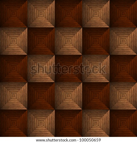 High resolution background texture of woven wood, Computer graphic - stock photo