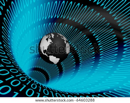 High Resolution  Binary Tunnel and Earth - stock photo