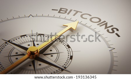 High Resolution Bitcoin Concept - stock photo