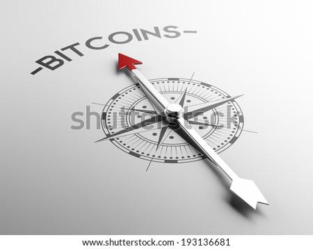 High Resolution Bitcoin Concept - stock photo