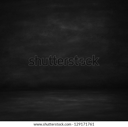 High resolution black concrete room - stock photo