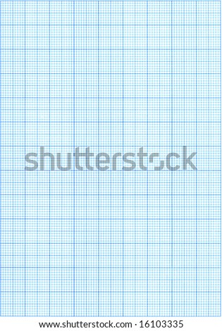 High resolution blue graph paper. - stock photo