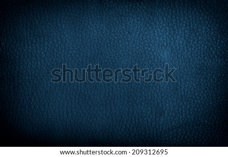 high resolution blue leather texture. Close up.  - stock photo