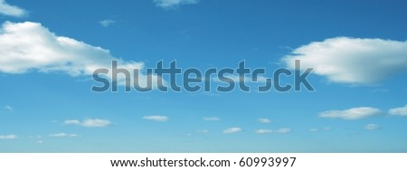 High resolution blue sky background - stock photo