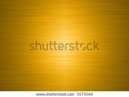 high resolution brushed gold plate - stock photo