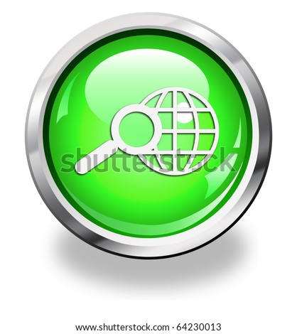 high resolution button symbol isolated on white
