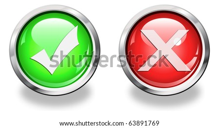 high resolution button symbols isolated on white