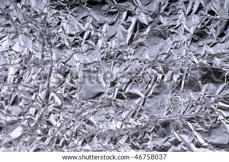 High resolution close up abstract studio image of a silvery subject
