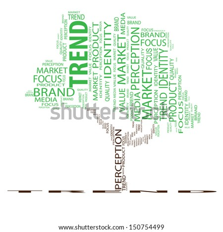 High resolution concept or conceptual tree word cloud on white background as metaphor for business,brand,trend,media,focus,market,value,product,advertising or customer.Also for corporate wordcloud - stock photo