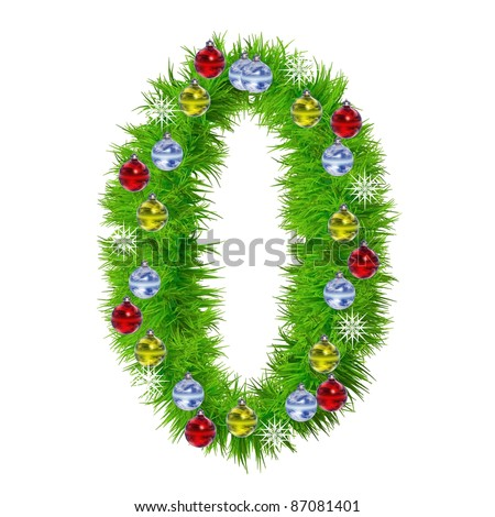 Snowflake christmas number stock images royalty free for Number of ornaments for christmas tree