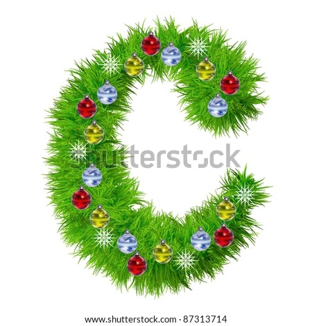 C christmas letter tree stock images royalty free images for Red and yellow christmas tree