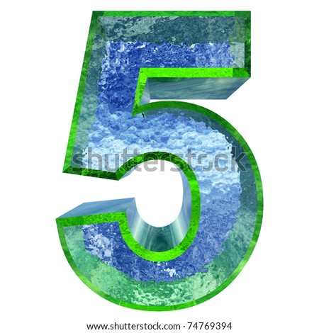 High resolution conceptual 3D water or ice font isolated on white background, ideal for natural, summer or fresh designs. It is part of a group or collection - stock photo