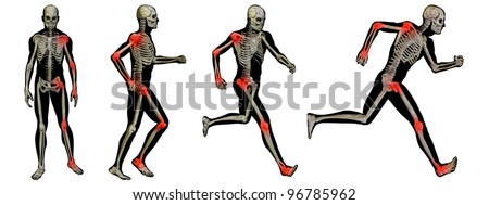 High resolution conceptual man anatomy illustration on white background - stock photo